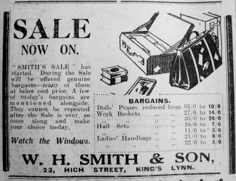 1929 Feb 8th W H Smith