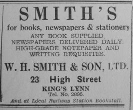 1937 Oct 1st W H Smith