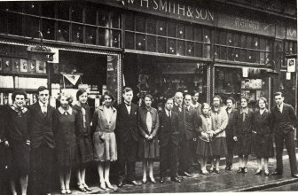 1930s Staff of W H Smith & Son @ No 23 (KL in Old Picture Postcards)