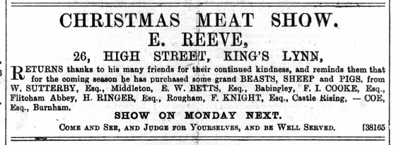 1889 Dec 14th Edward Reeve @ No 26