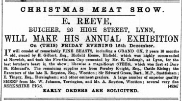 1891 December 19th E Reeve @ No 26