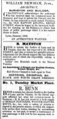 1842 Jan 4th E Mayston @ No 27 x 2