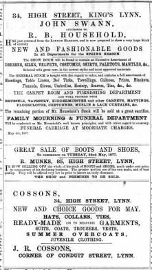 1877 May 19th John Cossons @ No 34
