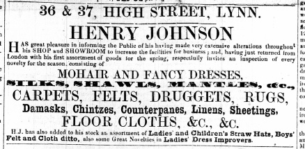 1861 March 16th Henry Johnson @ Nos 36 & 37