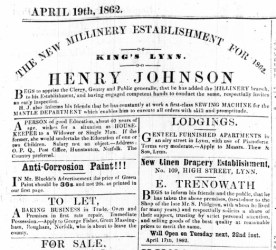 1862 April 19th Henry Johnson @ Nos 36 & 37
