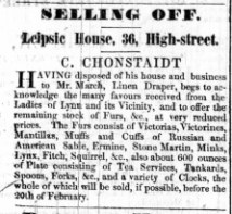 1846 Jan 17th Cohnstaidt sell to March No 36