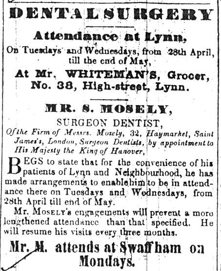 1846 May 16th Whiteman & Mosely