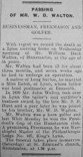 1931 Dec 11th obit W D Walton
