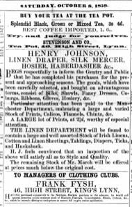 1859 Oct 8th Stevenson & Co @ No 40