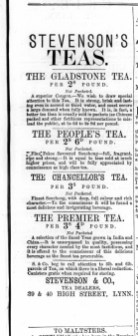 1872 Oct 19th Stevensons Teas @ Nos 39 & 40