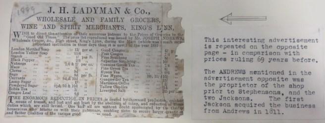 1889 Ladymans archive (Ashley Bunkall)