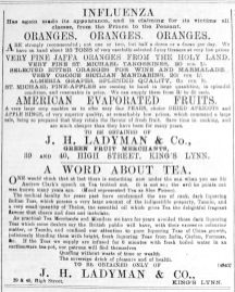 1892 Jan 30th Ladymans