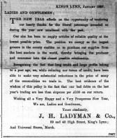1897 Jan 1st Ladymans @ 39 & 40