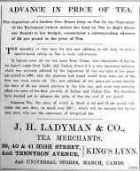 1904 Apr 22nd Ladymans tea price