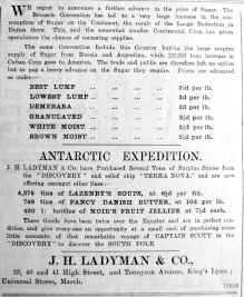 1905 Jan 13th Ladymans tea from the ship Discovery