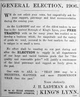 1906 Jan 5th Ladymans