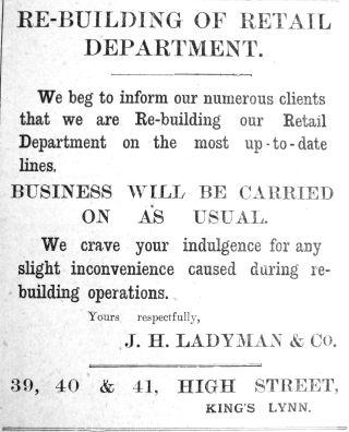 1912 June 15th Ladymans rebuilding