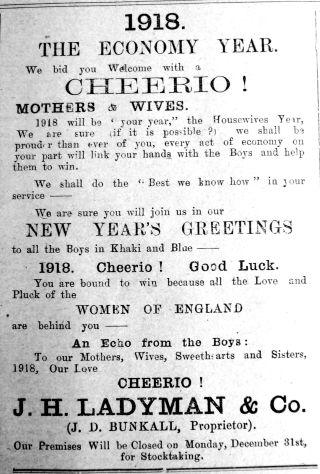 1917 Dec 28th Ladymans