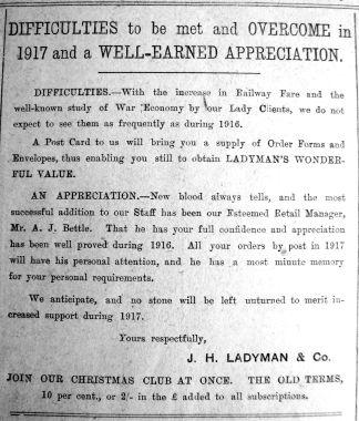 1917 Jan 12th Ladymans Retail Mgr