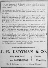 1921 Oct 7th Ladymans K B Davey mngr