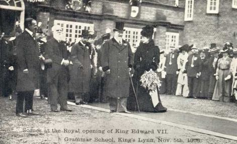 1906 Nov 5th King Edward VIII opening Grammar School (see Elizabeth Billing)