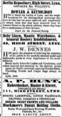 1856 April 19th J W Dennes @ No 42