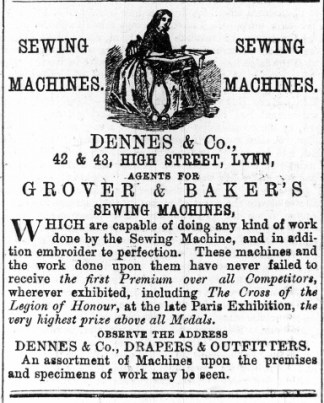 1868 Jan 25th Dennes & Co @ Nos 42 & 43