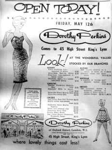 1961 May 12th Dorothy Perkins opens