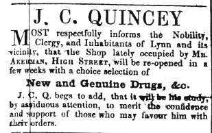 1848 June 24th J C Quincey