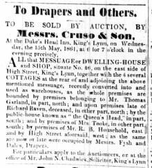 1861 May 4th ex Fysh & Dales shop for sale No 46