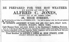 1869 May 22nd Alfred C Jones @ No 46