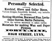 1860 Nov 3rd Taylor & Gale (query) @ No 49