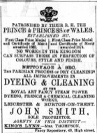 1887 April 2 Smiths cleaners @ Mrs Thompsons @ No 49