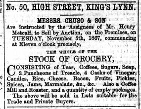 1867 Nov 2nd Henry Metcalf @ No 50