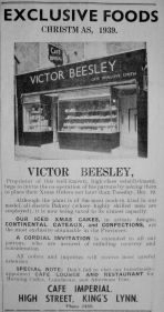 1939 Dec 15th Imperial Cafe Victor Beesley