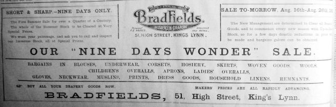 1919 Aug 15th Bradfields