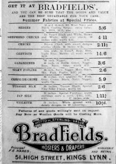 1919 May 2nd Bradfields