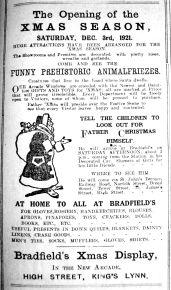 1921 Dec 2nd Bradfields Xmas