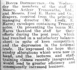 1925 Mar 20th Bradfield Ibbersons profit sharing