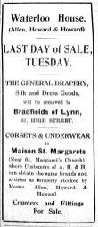 1928 Oct 19th Allen Howard & Howards stock transferred