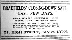 1936 Jan 10th Bradfields last days of sale