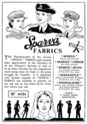1943 Sparva Fabrics ad.