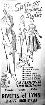 1950 Mar 10th Rivetts of Lynn