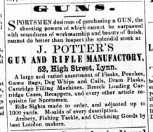 1861 August 24th J Potter @ No 52