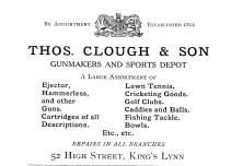 1924 Thomas Clough @ 52 (Holcombe Ingleby Treasures of Lynn)