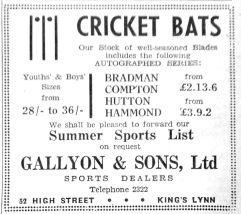 1950 May 19th Gallyon & Sons Ltd