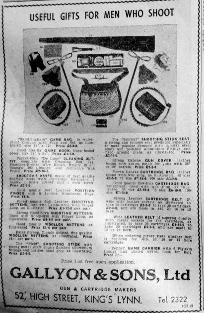 1952 Nov 28th Gallyons