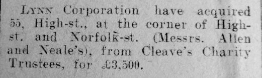 1929 Jan 11th Lynn Corporation buy No 55