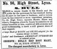 1855 Dec 1st S Bull @ No 56