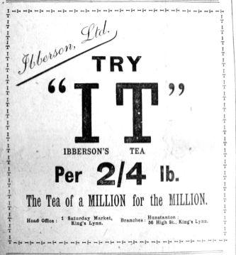 1917 Feb 9th Ibbersons Tea